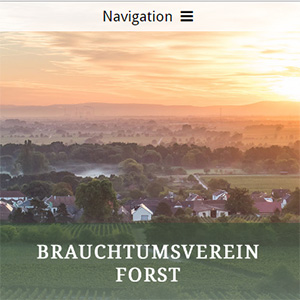 Website Forster Brauchtumsverein
